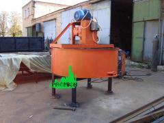Бетонозмішувач для примусового перемішування бетону і розчин