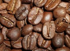 Natural coffee bean