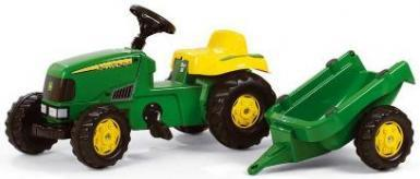 Педальний Трактор з причепом Rolly Toys Kid John Deere 12190