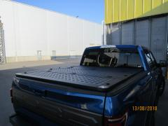 Power three-piece cover for pick-up. Cover bed of a pickup truck