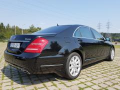 Rent a car with driver in Minsk. Mercedes W221 S500 Long